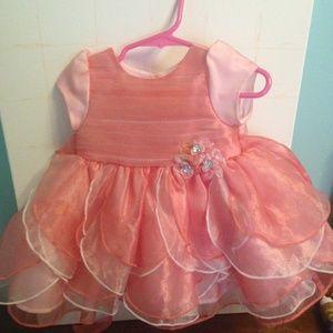 Nannette Baby Girls  Formal coral 6-9 months dress